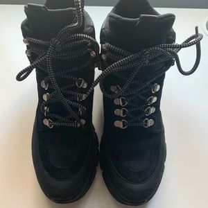 b84924d8714 UO Brooklyn Leather Hybrid Hiker Boots